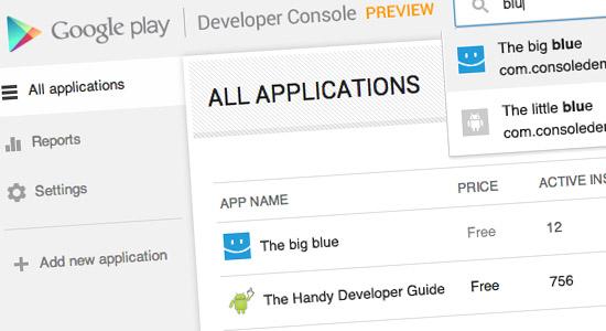 La nouvelle console des développeurs Android