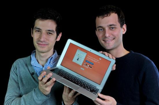 Jeremy Le Van et Pierre Valade, les co-fondateurs de Sunrise © PIERRE-YVES THIENPONT/LE SOIR