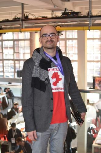 Valentin Bouttiau de chez ProximusEnCo, un des organisateurs de l'Hackapost / ® Yassine M.