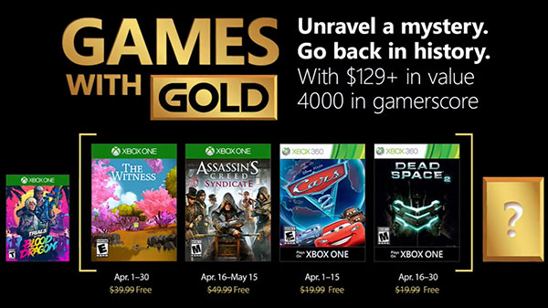 Games with gold avril 2018