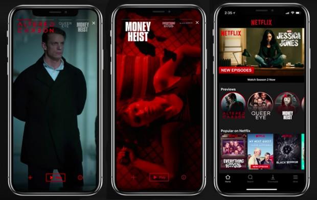 Netflix vertical video
